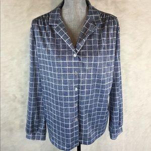 Vintage 70s 80s Graff Button Down Shirt Plus 1X 2X